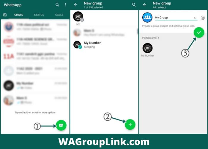 Creating WhatsApp Group